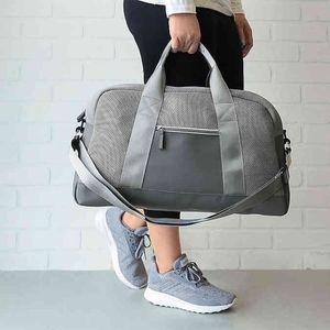 NWT DSW Gray Mesh Duffle Bag